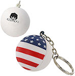 Patriotic Stress Ball Key Chain Stress Balls
